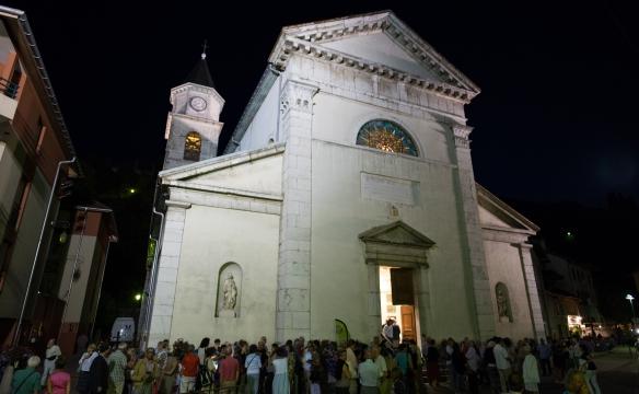 Concert à l'église de Faverges. Août 2016