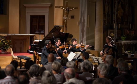Le quatuor Ebène. Faverges. Août 2016
