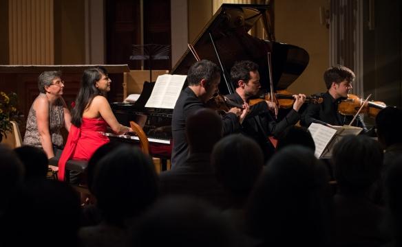 Shani Diluka et le quatuor Ebène. Faverges; Août 2016